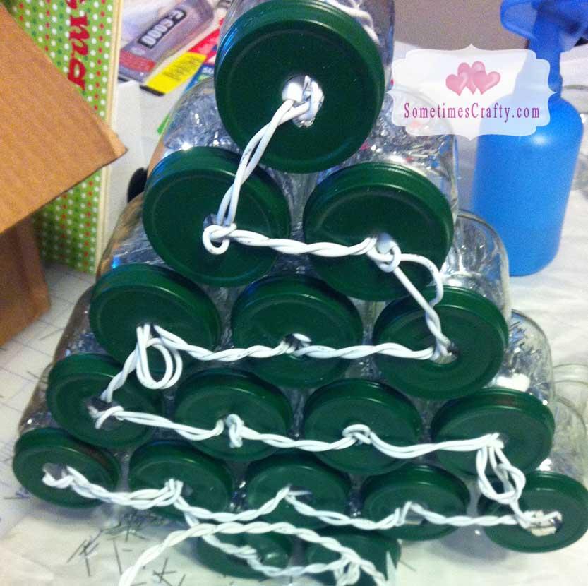 Baby Food Jar Christmas Tree Sometimes Crafty