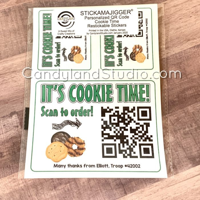 Restickable Cookie Business Cards Car Decals