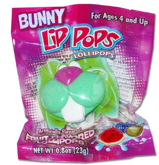 Easter Happy Snail Mail Bunny Lips Sucker in Package
