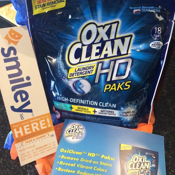 Free Sample of OxyClean HD Laundry Pak from Smiley360