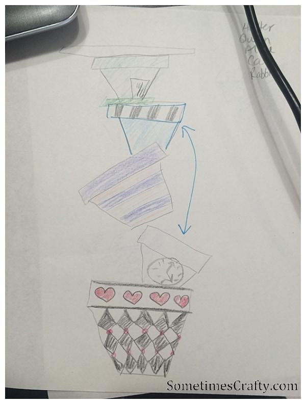 Topsy Turvy Planter Sketch