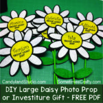 DIY Large Personalized Felt Daisy Photo Props