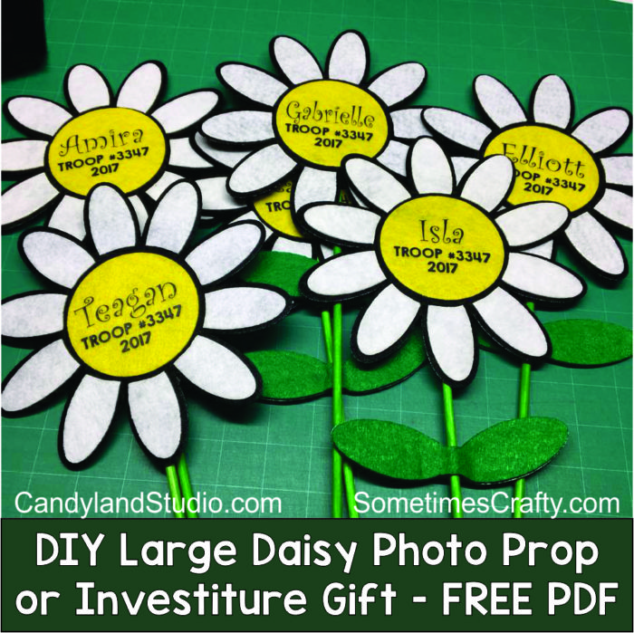 DIY Felt Daisy Photo Prop or Investiture Gift for Girl ...