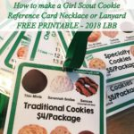 How to Make a Girl Scout Cookie Reference Card for LBB 2018