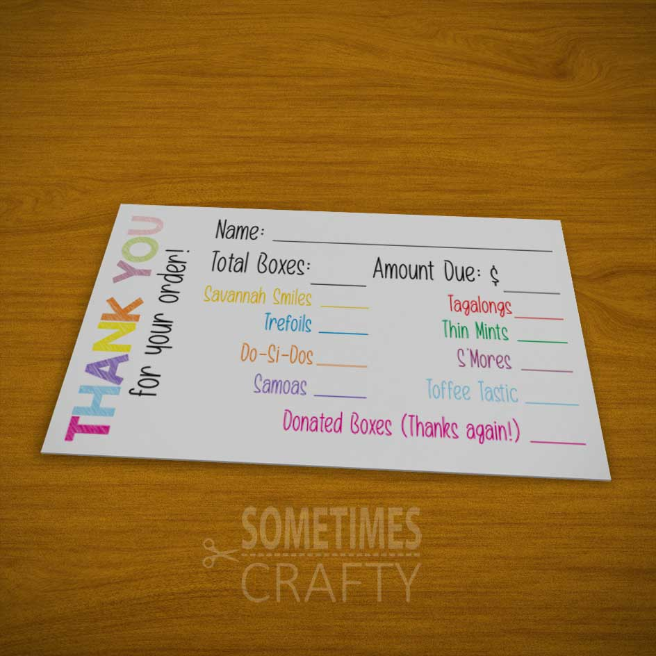 Girl Scout Thank You Tags - Free Printables by Sometimes Crafty