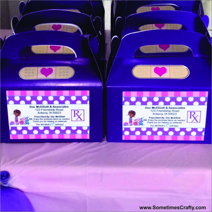 Doc McStuffins Birthday Party Ideas Favor Boxes