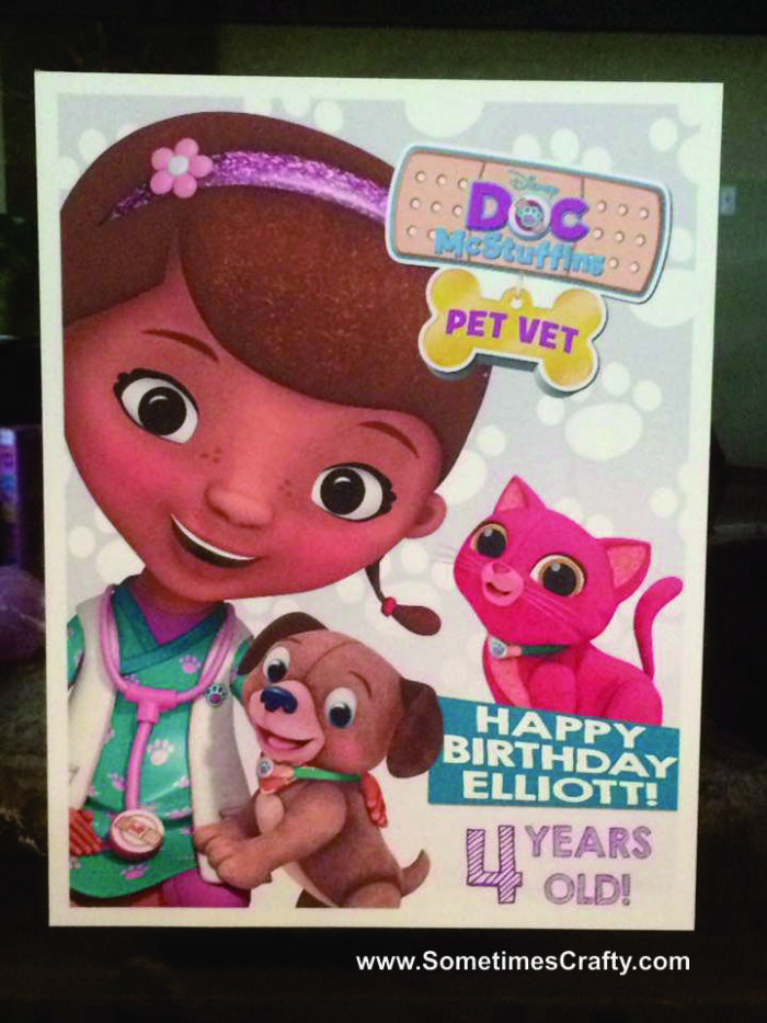 Doc McStuffins Birthday Party Ideas Personalzied Party Poster