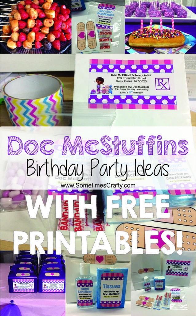 Doc McStuffins Birthday Party Ideas with Free Printables