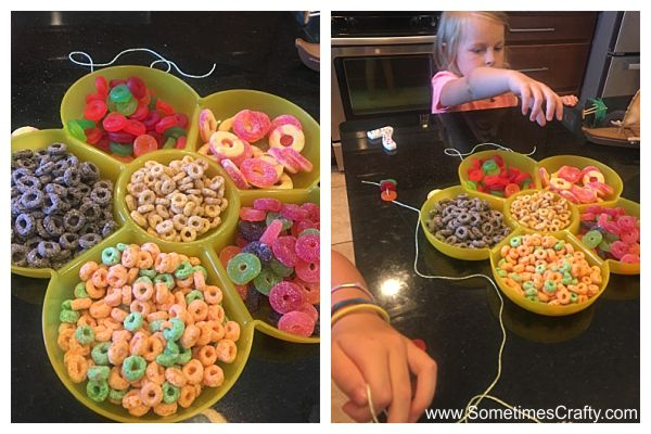 Moana Party Ideas DIY Cereal Candy Necklace