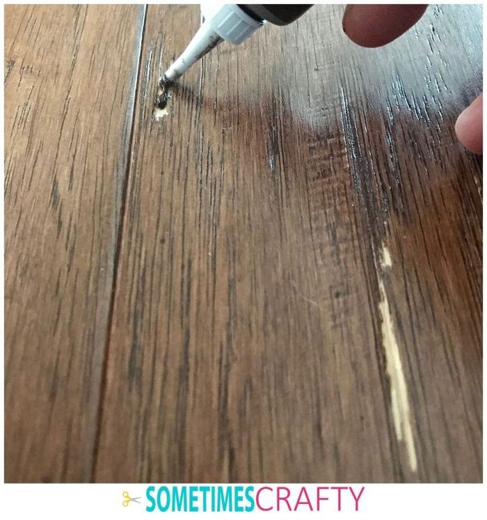 Wood Scratch Concealer Hack Step 1