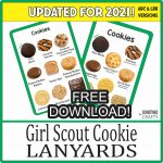 2021 Girl Scout Cookie Sales Tool Lanyards - Free Printable Download