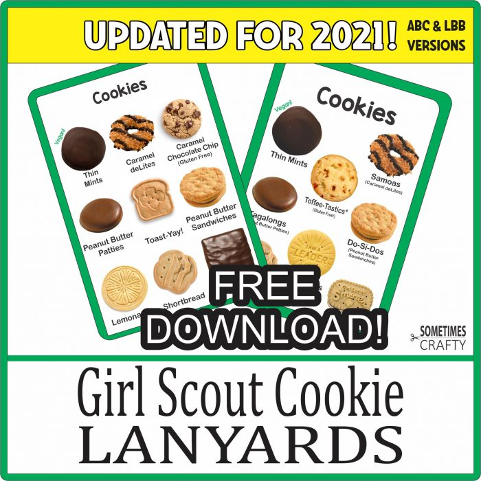 2021 Girl Scout Cookie Sales Tool Lanyards - Free Printable Download