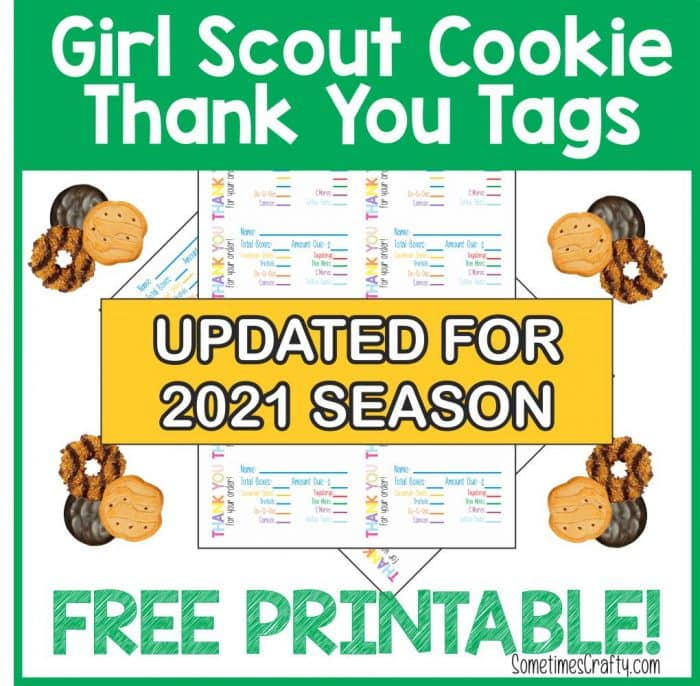 2021 Girl Scout Cookie Thank you Tags