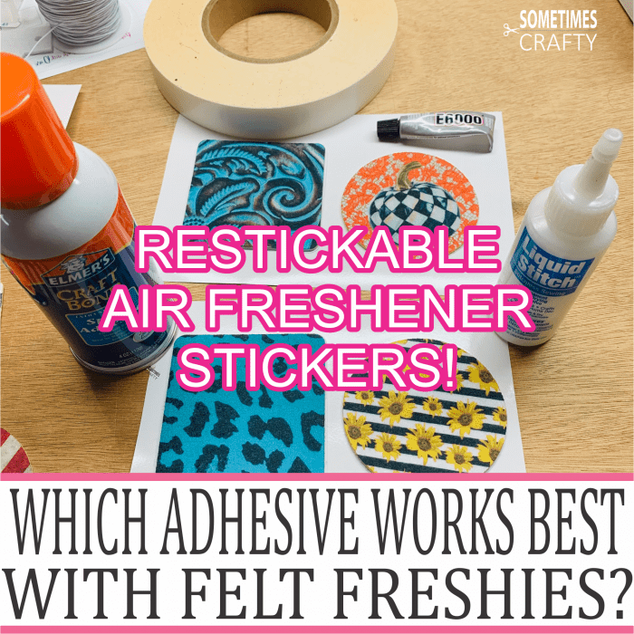 Which Adhesives Work Best for Felt Freshies