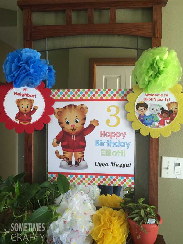 Daniel Tiger Party Entryway