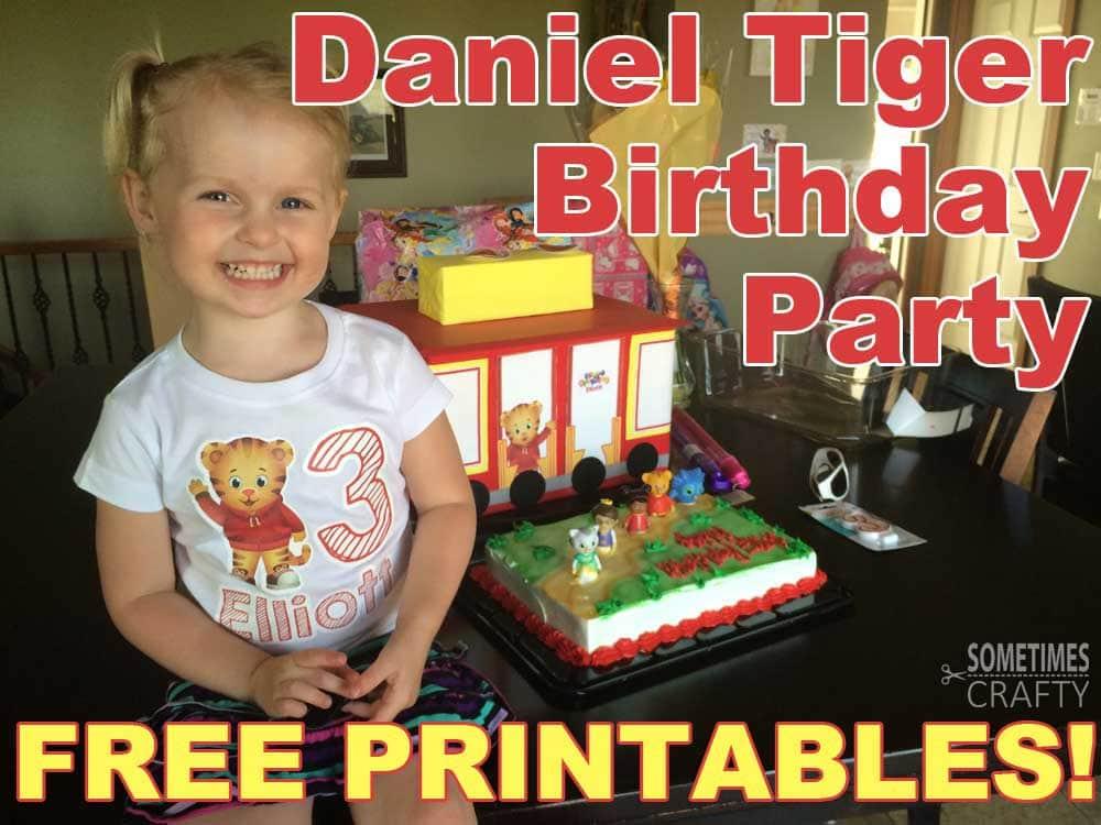 Incredible Daniel Tiger Birthday Party With Free Printables Sometimes Crafty Funny Birthday Cards Online Elaedamsfinfo