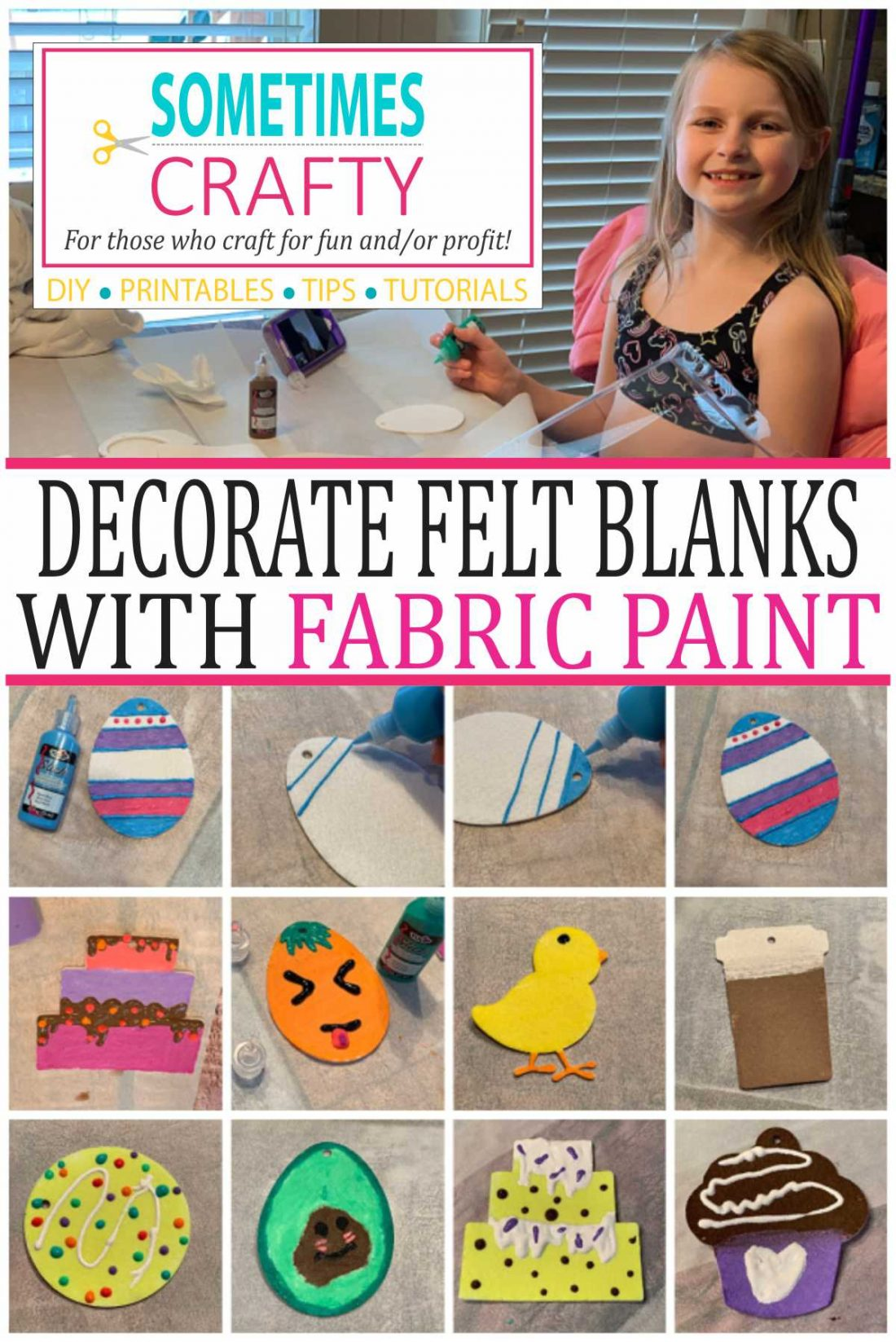 How to decorate felt freshie blanks from Candyland Studio with fabric paints.