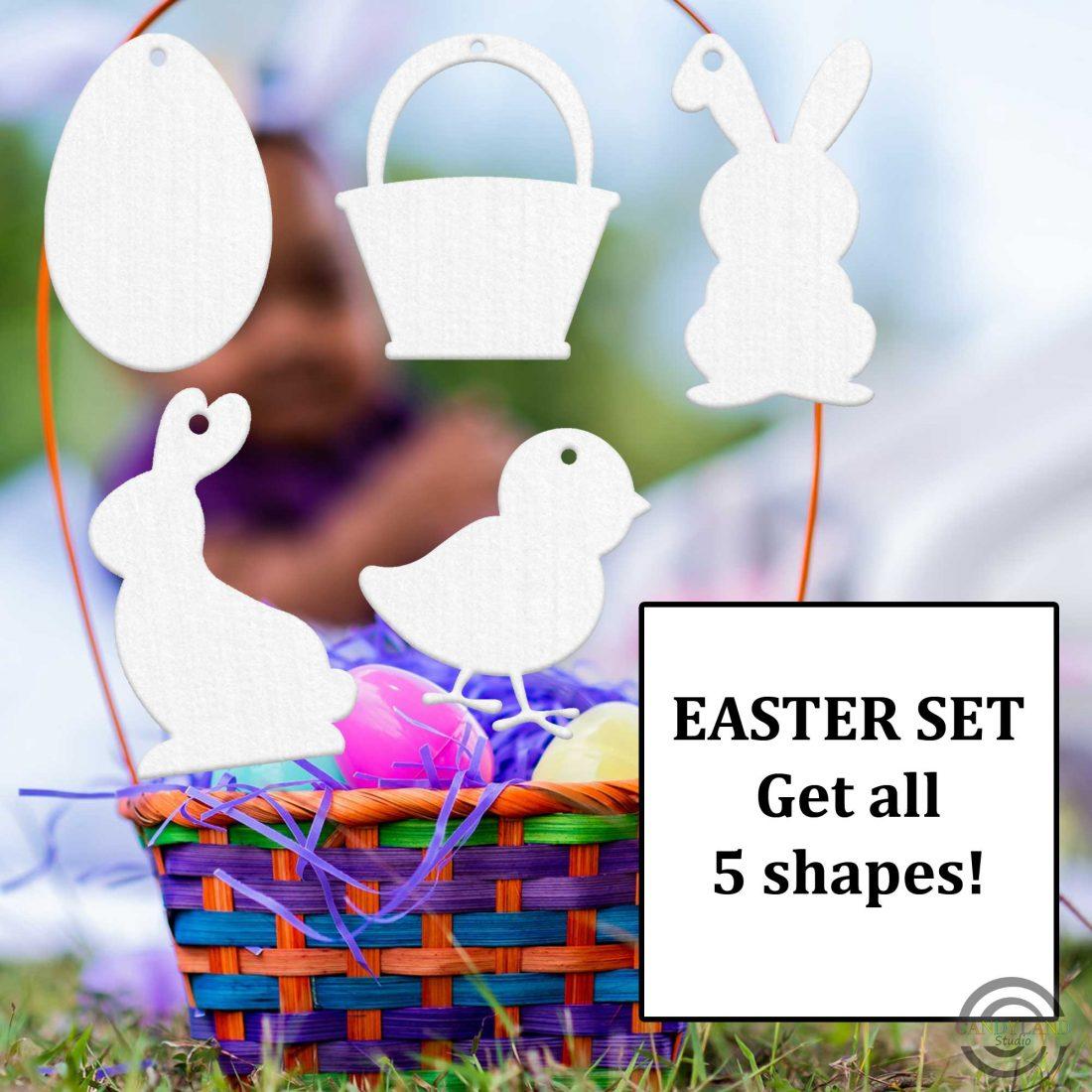 Candyland Studio felt freshie Easter Set