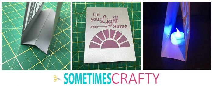Finished Cardstock Luminary with LED tealight candle