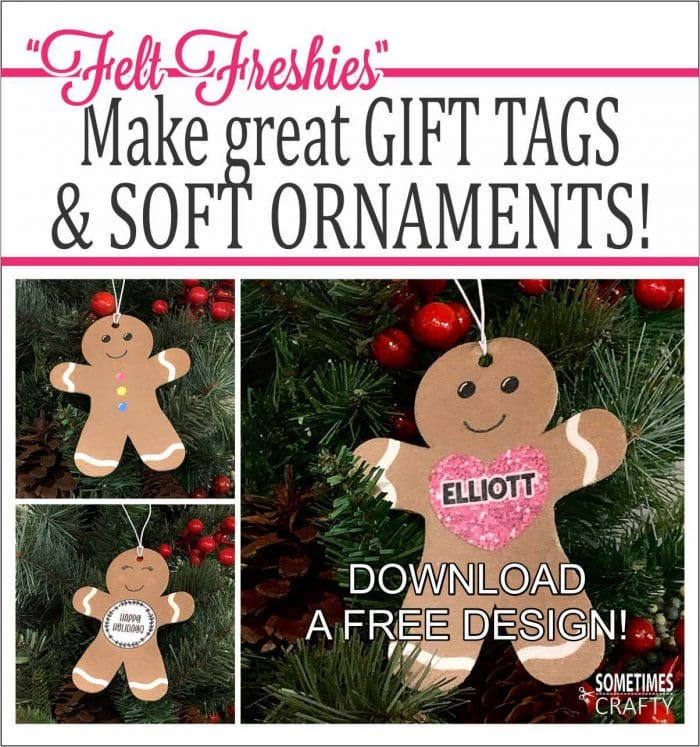 Felt Freshies make cute & inexpensive Christmas gifts!