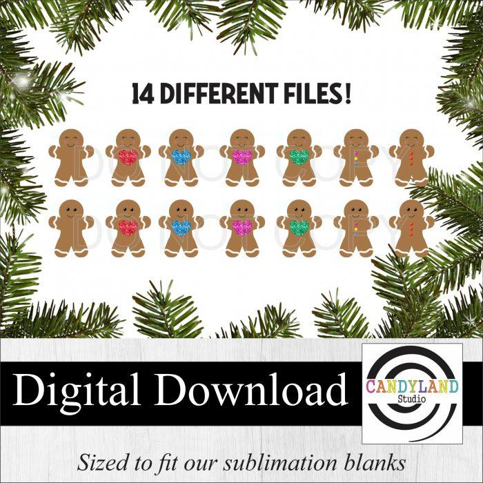 Gingerbread People Digital Bundle - make cute & inexpensive Christmas gifts!