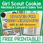 Updated Girl Scout Cookie Necklace Lanyard Sales Tool LBB ABC Lemon-Ups