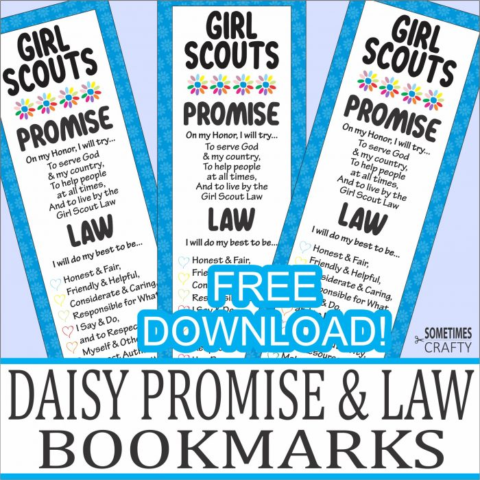 Girl Scout Daisy Promise & Law Bookmarks