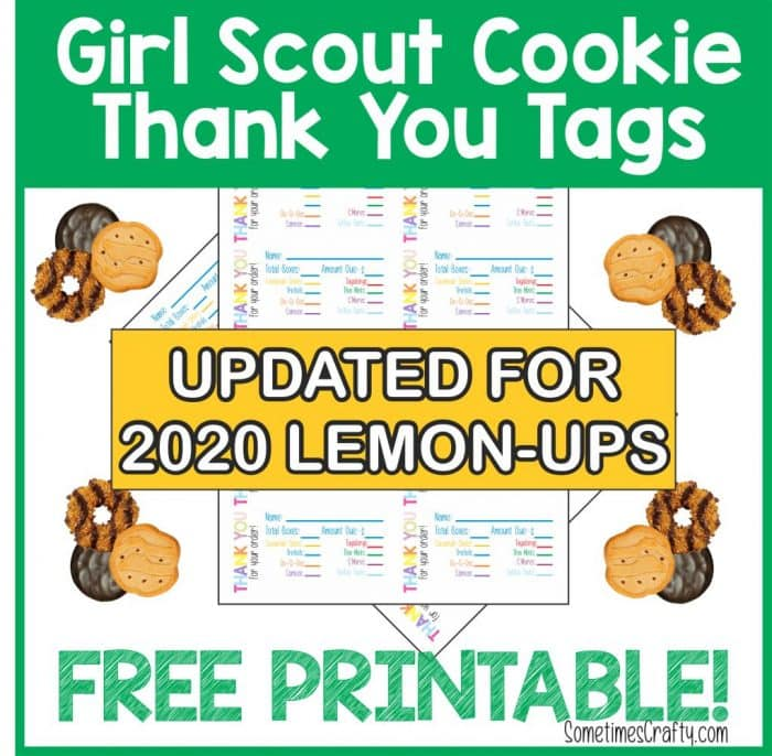 Free Girl Scout Cookie Thank You Tags