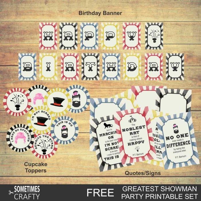 Greatest Showman Birthday Printables