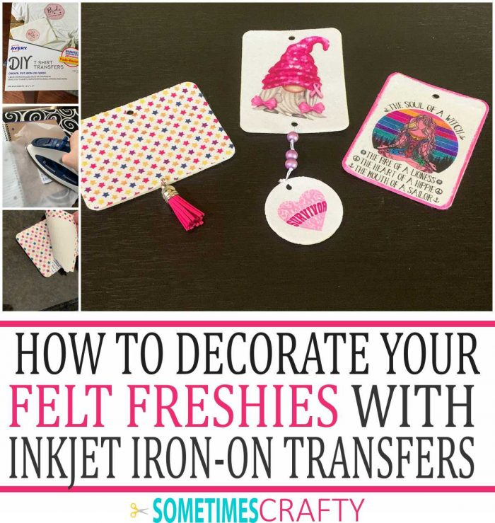 How to Decorate Felt Freshies with Avery Inkjet Iron on Transfer Paper