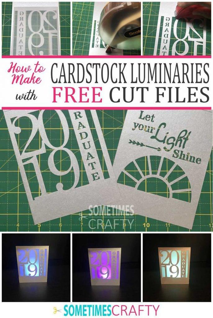 How to Make Cardstock Luminary