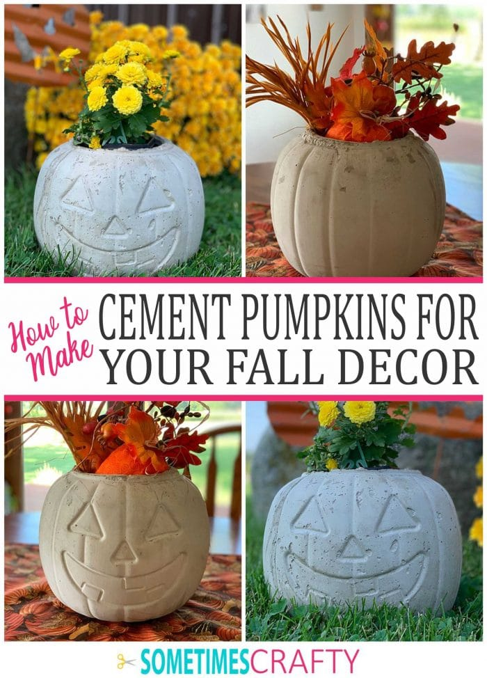 Cement Pumpkins for Indoor or Outdoor Fall Decor