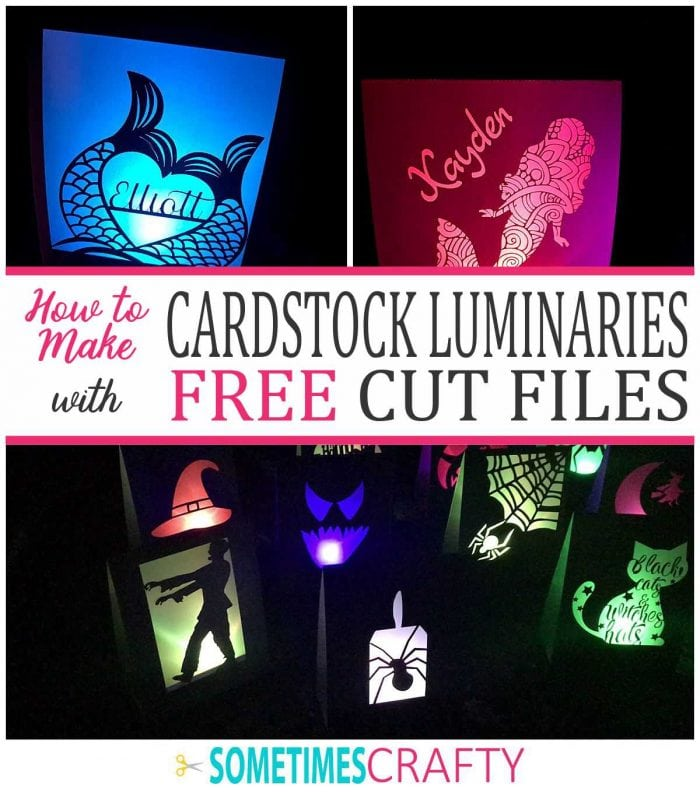 How to Make a Cardstock Luminary - Free Cut Files