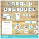 Kitty Cat Birthday Printables Set
