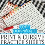 Print and Cursive Handwriting Practice Sheets