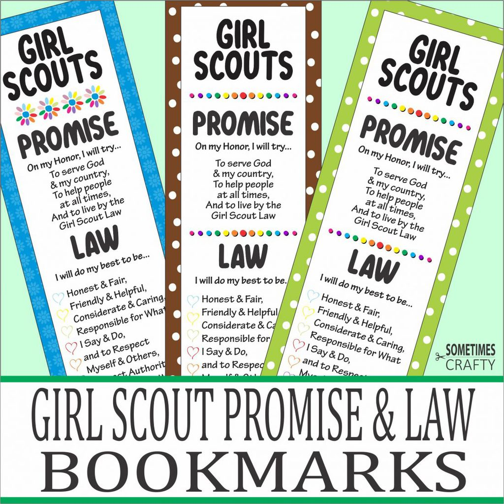 Girl Scout Promise & Law Bookmarks