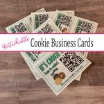 Restickable Cookie Business Cards with QR Code