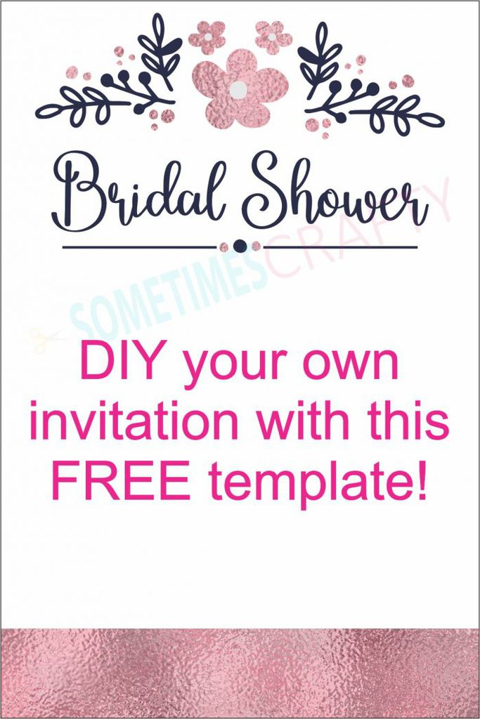 Rose Gold and Navy Bridal Shower Invitation - FREE TEMPLATE