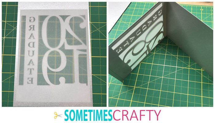 Cardstock Luminary with Vellum Applied